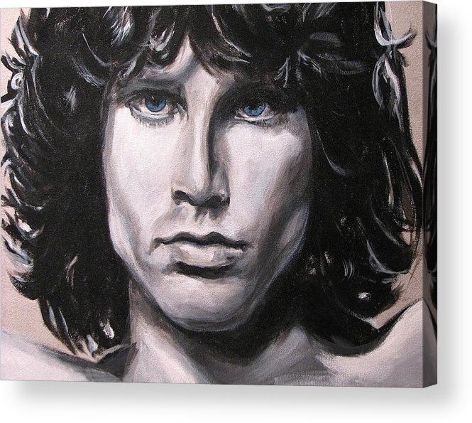 Jim Morrison Acrylic Print featuring the painting Jim Morrison - The Doors by Eric Dee