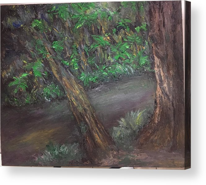 Jungle Acrylic Print featuring the painting Jungle Rules by Yong Chee lik