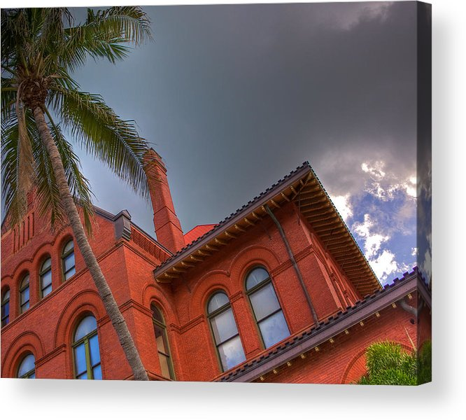 Key West Acrylic Print featuring the photograph Key West Customs House by William Wetmore