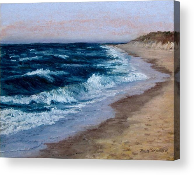 Ocean Acrylic Print featuring the painting Late Spring At Cold Storage Beach by Jack Skinner