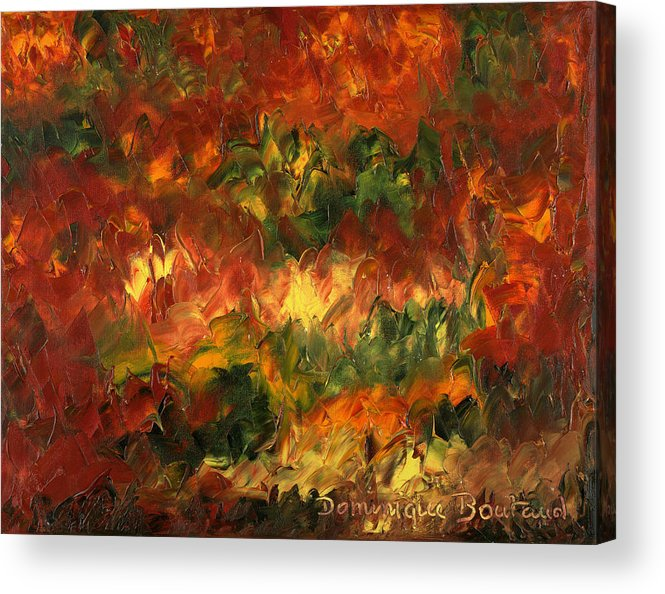 Abstract Acrylic Print featuring the painting Le Feu Et La Vie 2 by Dominique Boutaud