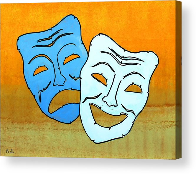 Masks Acrylic Print featuring the painting Lib-519 by Artist Singh
