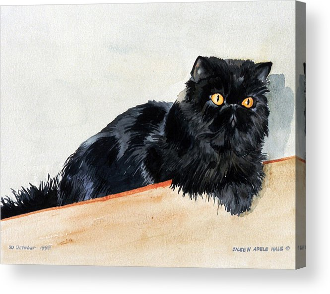 Portrait Acrylic Print featuring the painting Lizzy by Eileen Hale