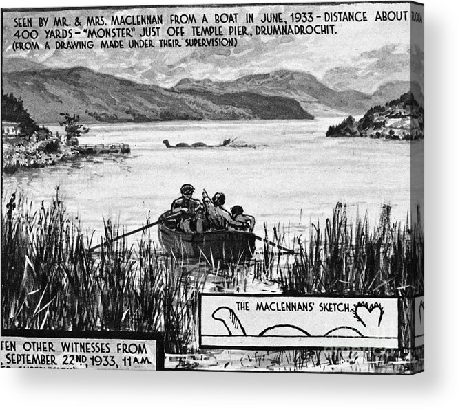 1933 Acrylic Print featuring the photograph Loch Ness Monster, 1934 by Granger