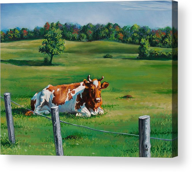 Landscape Acrylic Print featuring the painting Lounging by Arnold Hurley