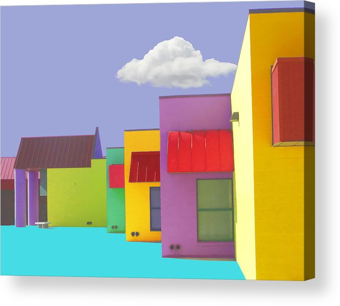 Abstract Acrylic Print featuring the painting Lv Schoolhouse 1 by Jackie Jacobson