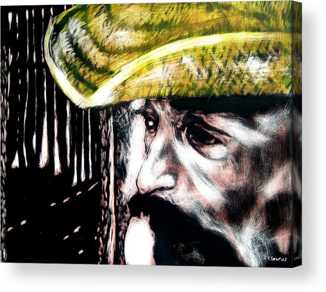 Acrylic Print featuring the mixed media Miguel by Chester Elmore