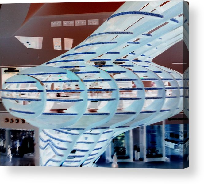 Architecture Acrylic Print featuring the photograph Ghostly Shopping Mall by Karen J Shine