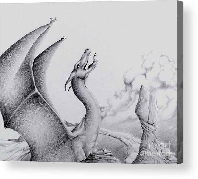 Dragon Acrylic Print featuring the digital art Morning Bellow by Robert Ball
