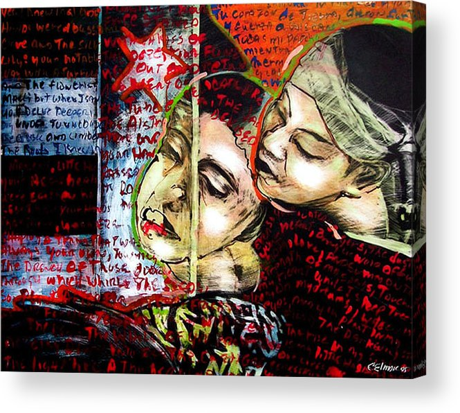 Acrylic Print featuring the mixed media Neruda Love Poem by Chester Elmore