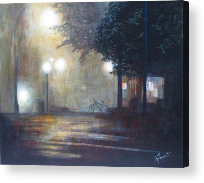 Fog Acrylic Print featuring the painting Night Fog by Victoria Heryet