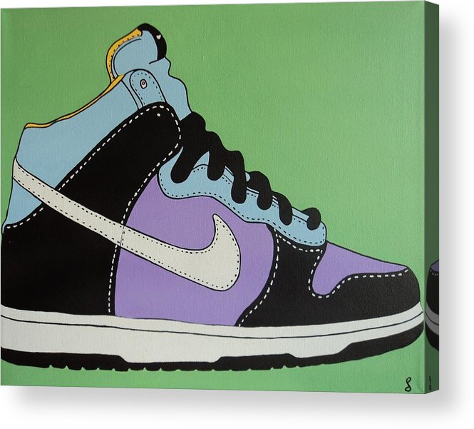 Shoe Acrylic Print featuring the painting Nike Shoe by Grant Swinney