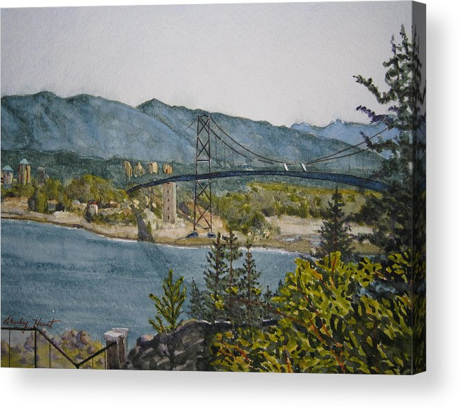 Landscape Acrylic Print featuring the painting North And West by Shirley Braithwaite Hunt