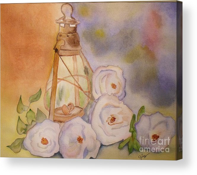 Flower Acrylic Print featuring the painting Nostalgie by Djl Leclerc