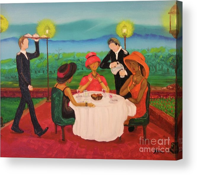 Ethnic Acrylic Print featuring the painting Oh My by Barbara Hayes