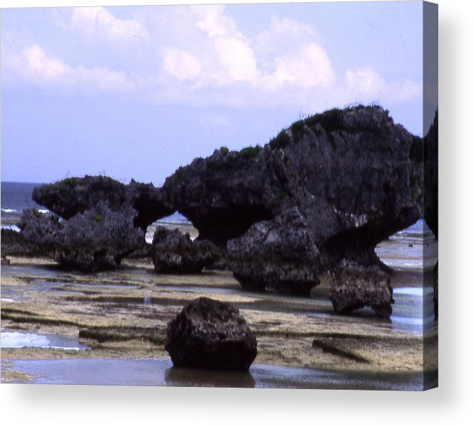 Okinawa Acrylic Print featuring the photograph Okinawa Beach 2 by Curtis J Neeley Jr