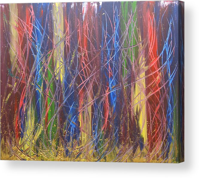 Abstract Acrylic Print featuring the painting Olympiads by Jolene Courtemanche
