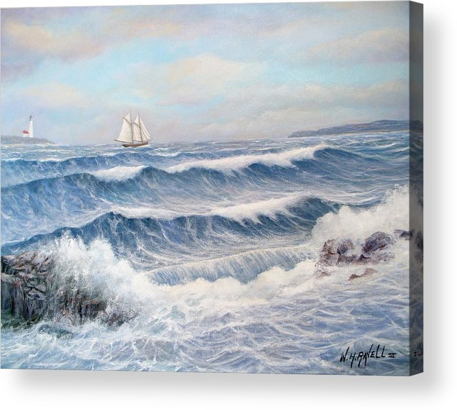 Seascape Acrylic Print featuring the painting Outward Bound by William H RaVell III