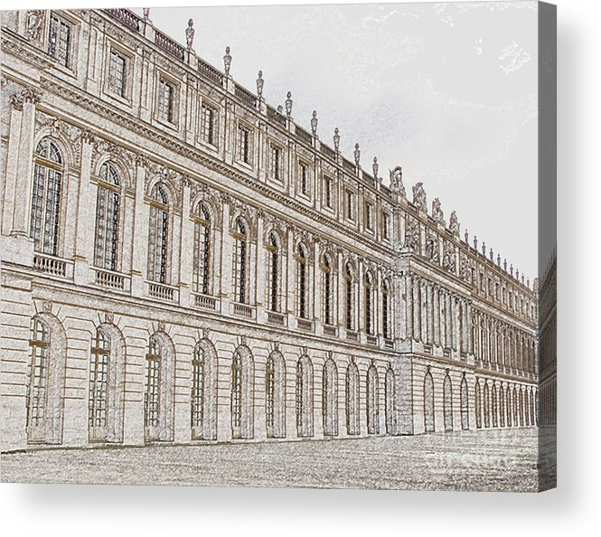 France Acrylic Print featuring the photograph Palace Of Versailles by Amanda Barcon
