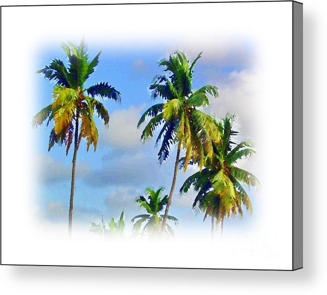 Palm Tree Acrylic Print featuring the painting Palm Trees - 5 by Hussein Kefel