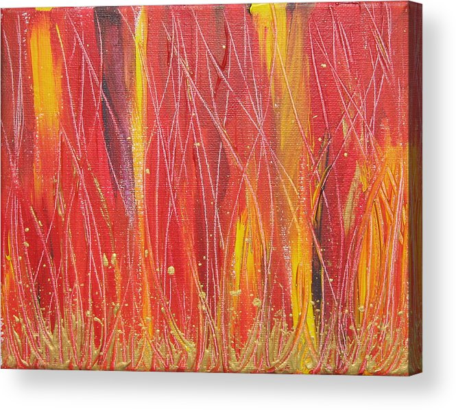 Fire Acrylic Print featuring the painting Passion Fire by Jolene Courtemanche