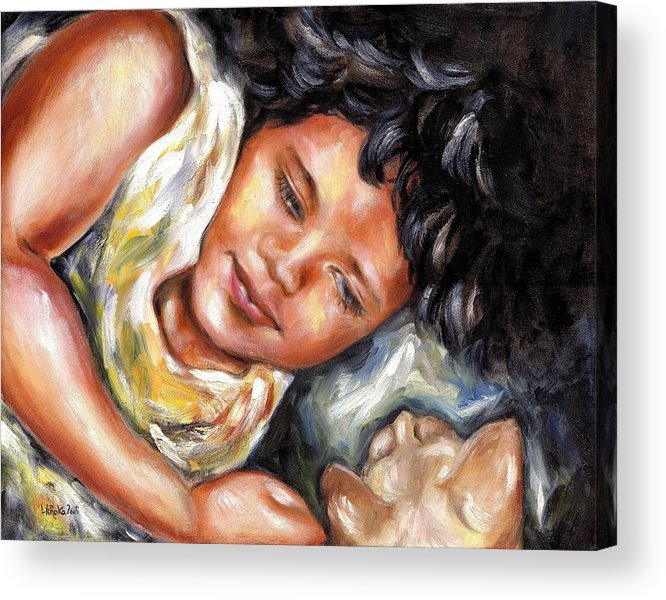 Child Acrylic Print featuring the painting Play Time by Hiroko Sakai