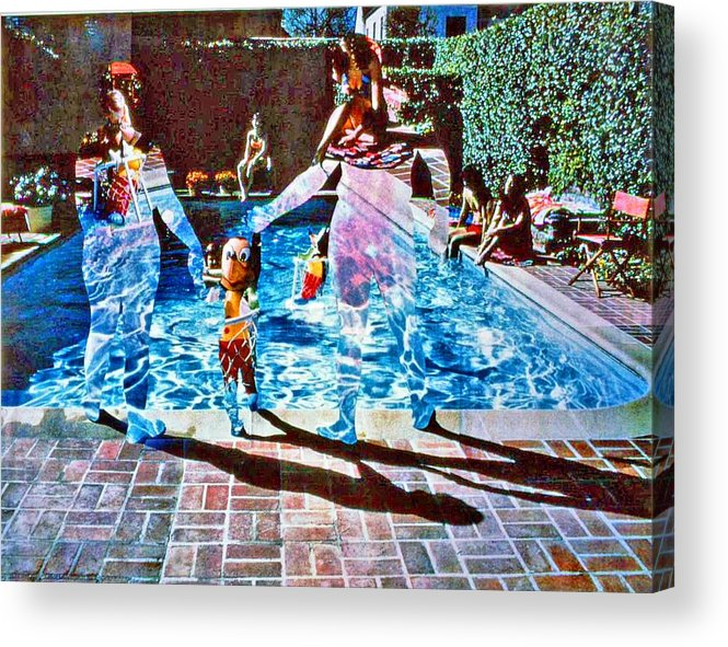 Pool Acrylic Print featuring the photograph Pool Party Sold by Randy Sprout