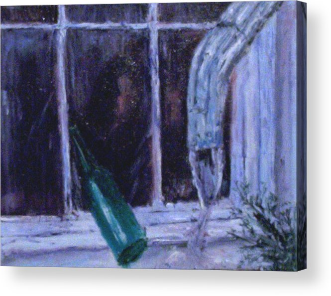Original Acrylic Print featuring the painting Rainy Day by Stephen King
