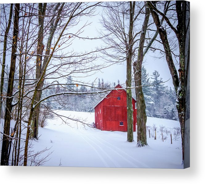 Landscape Acrylic Print featuring the photograph Red Barn by Ron Christie
