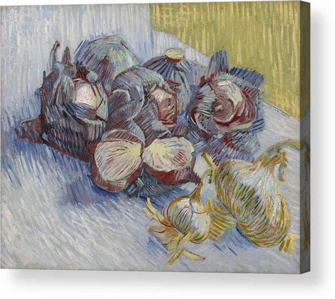 Nature Acrylic Print featuring the painting Red Cabbages And Onions Paris, October - November 1887 Vincent Van Gogh 1853 1890 by Artistic Panda