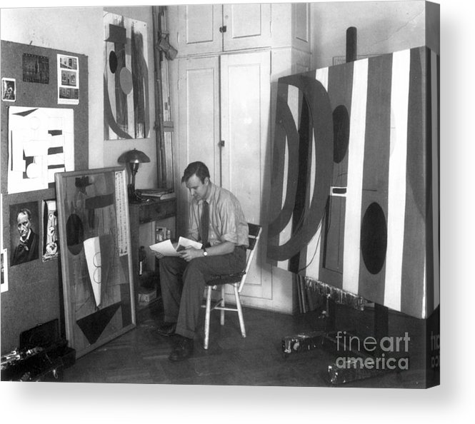 20th Century Acrylic Print featuring the photograph Robert Motherwell by Granger