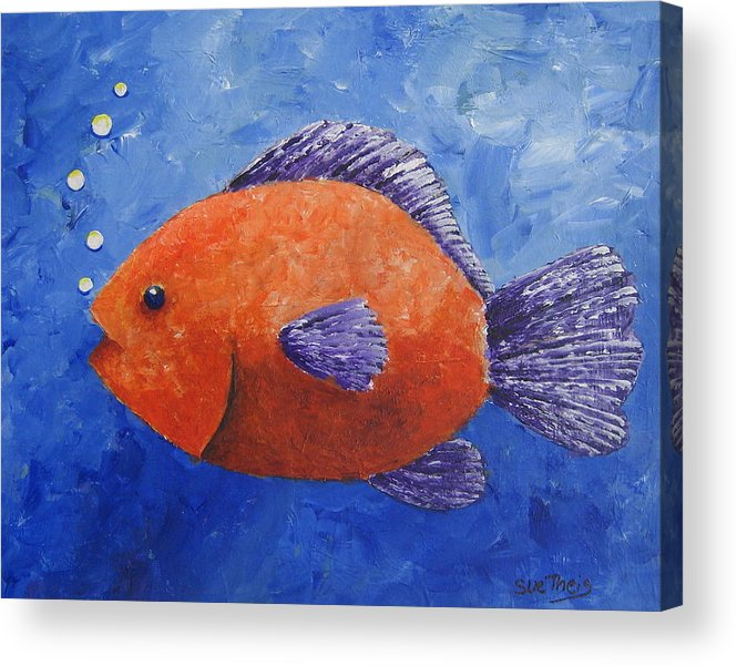 Fish Acrylic Print featuring the painting Sammy by Suzanne Theis