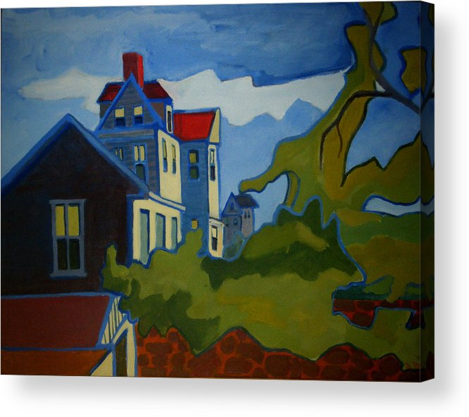 Buildings Acrylic Print featuring the painting Sarah Paul by Debra Bretton Robinson