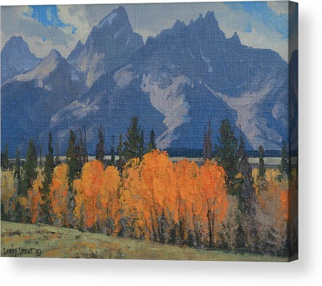 Landscape Acrylic Print featuring the painting September Glow by Lanny Grant