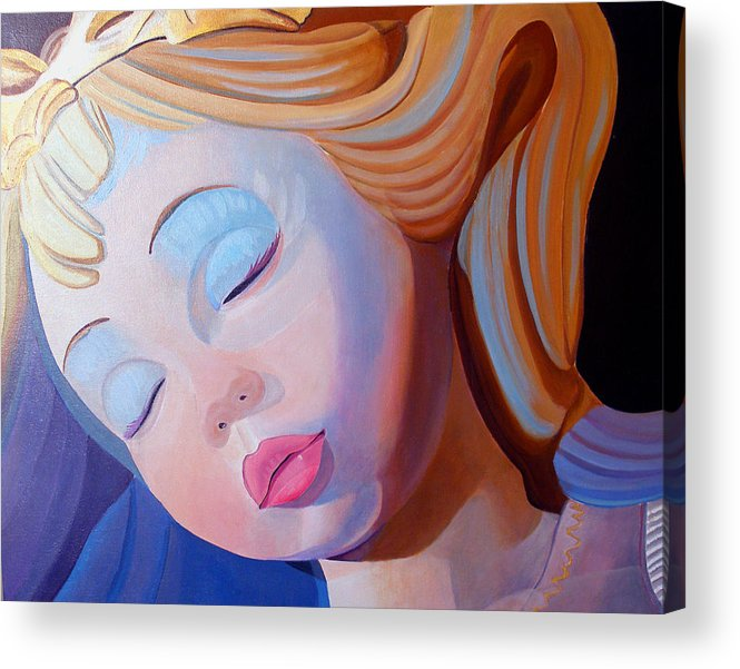 Doll Acrylic Print featuring the painting Sleeping Beauty by JoeRay Kelley
