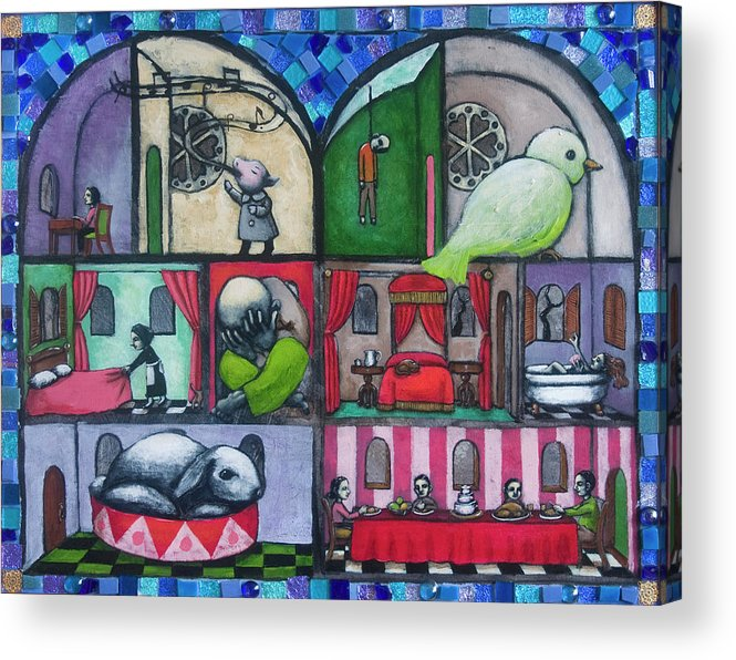 Dollhouse Acrylic Print featuring the painting So What Else Is New by Pauline Lim