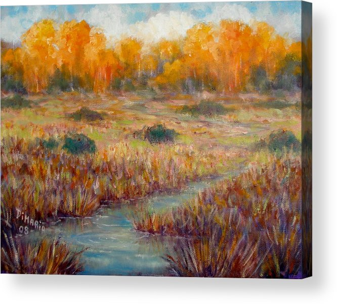 Realism Acrylic Print featuring the painting Southwest Autumn by Donelli DiMaria