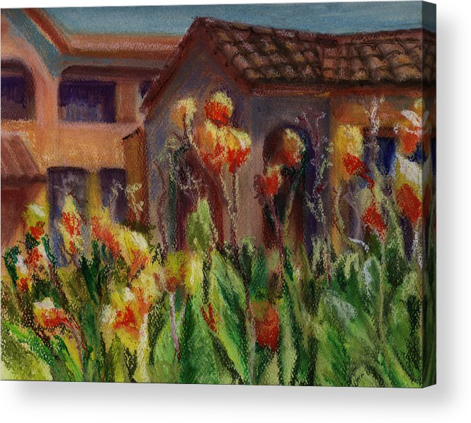 House Acrylic Print featuring the painting Spanish Abode by Patricia Halstead