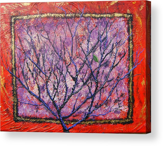 Nature Acrylic Print featuring the painting Spirit Tree 6 by Tami Booher