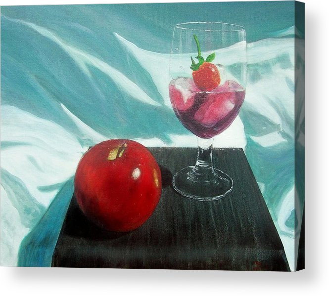 Still Life Acrylic Print featuring the painting Still Life by Tony Rodriguez