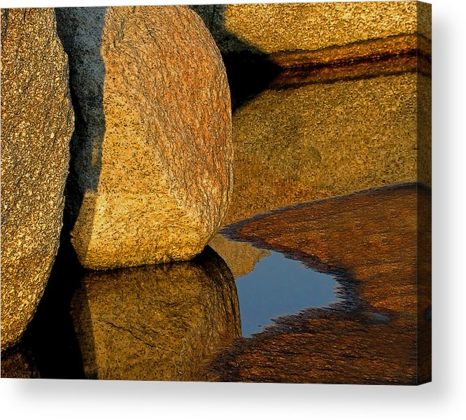 Rocks Acrylic Print featuring the photograph Stone And Shadow by Carolyn Marcotte