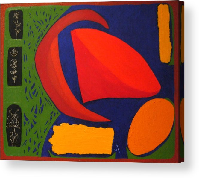 Irregular Forms; Abstract Acrylic Print featuring the painting Studio Number 326 by Vijayan Kannampilly