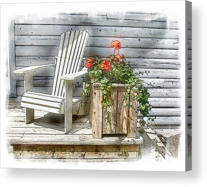 Log House Acrylic Print featuring the photograph Summer Solstice by Rose Guay