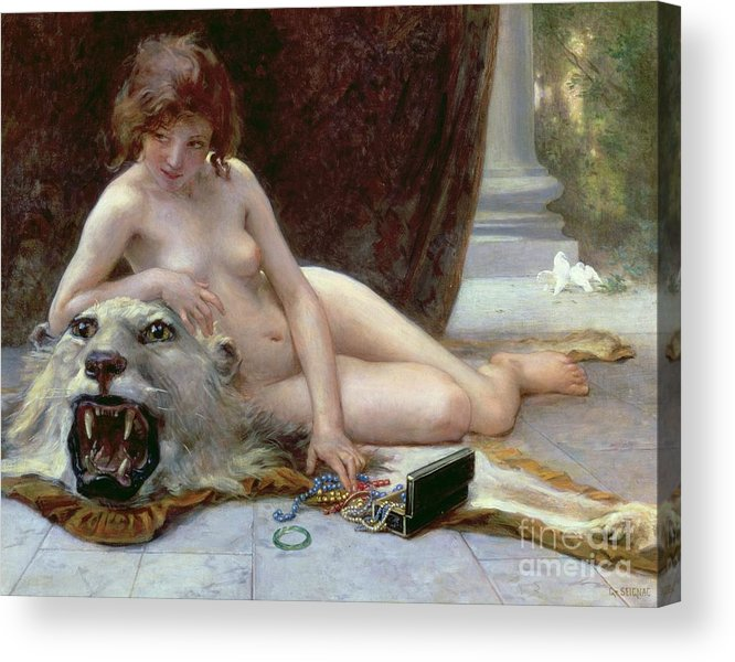 Nude Acrylic Print featuring the painting The Jewel Case by Guillaume Seignac