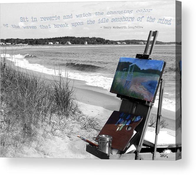 Digital Photography Acrylic Print featuring the photograph The Seashore by Sharon Crawford