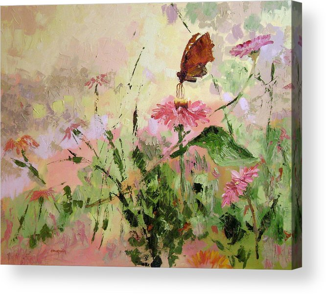 Butterflies Acrylic Print featuring the painting The Seeker by Ginger Concepcion