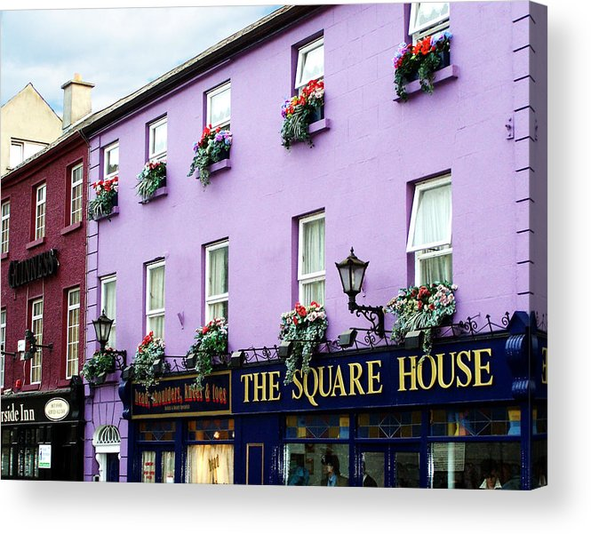 Irish Acrylic Print featuring the photograph The Square House Athlone Ireland by Teresa Mucha