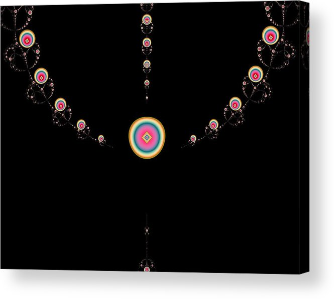 Digital Acrylic Print featuring the digital art Tiered Necklace by Thomas Smith