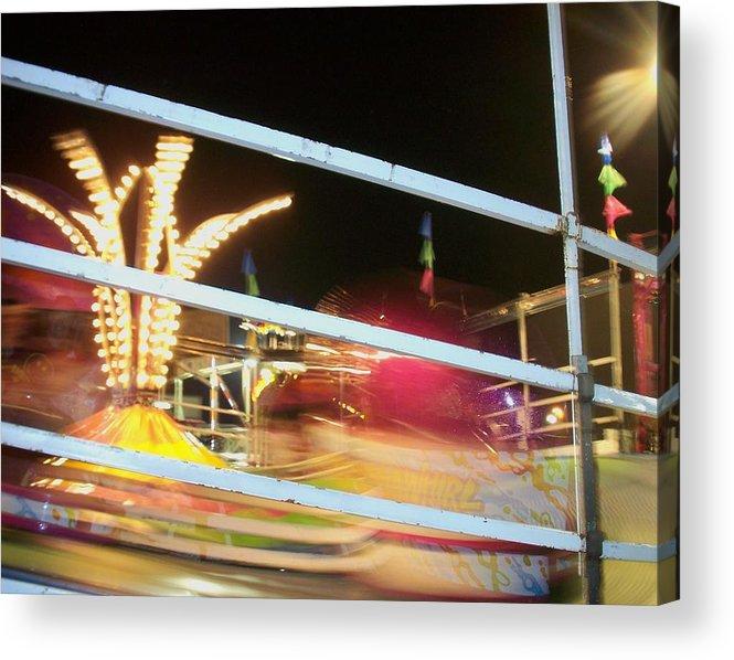 State Fair Acrylic Print featuring the photograph Tilt-a-whirl 2 by Anita Burgermeister
