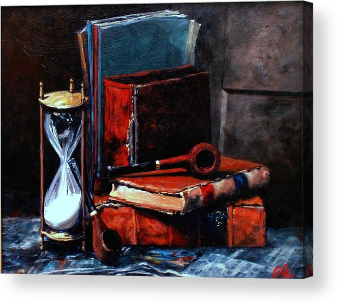Still Life Painting Acrylic Print featuring the painting Time And Old Friends by Jim Gola